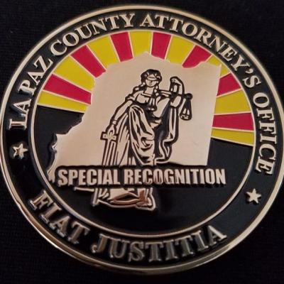 LaPaz Arizona District Attorney's Office Challenge Coin