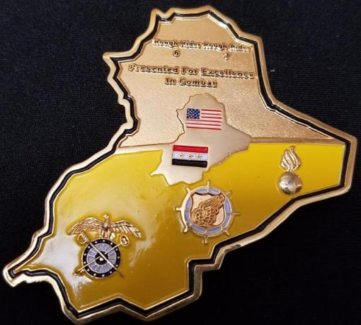 264th Combat Support Sustainment Battallion OIF Commanders Award for excellence in combat Iraq Country Shaped Challenge Coin