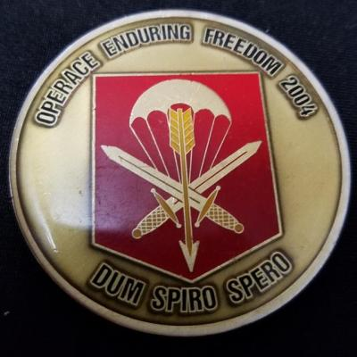 Combined Joint Special Operations Task Force Afghanistan CJSOTF-A Czech Republic Special Forces OEF 2004 Deployment Challenge Coin back