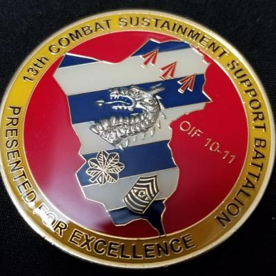13th Combat Support Sustainment Support Battalion OIF Combat Deployment Commanders Coin