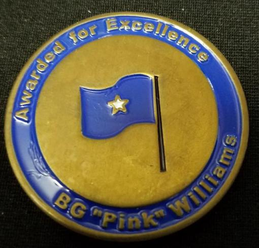 CFSOCC CJSOACC ACCE BG Pink Williams Commanders Coin back