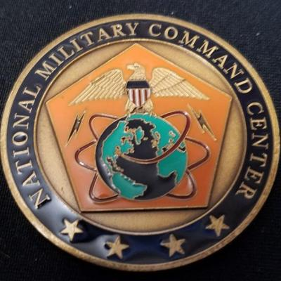 Joint Chiefs of Staff National Military Command Post Challenge Coin back