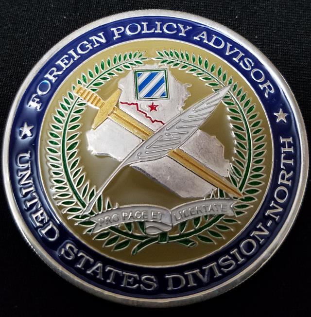 US State Department Foreign Policy Adviser US Division-North 3rd ID OIF  Deployment Challenge Coin - Phoenix Challenge Coins