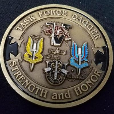 Rare Authentic Combined Joint Special Operations Task Force West CJSOTF-West Task Force Dagger TF Dagger OIF Challenge Coin back