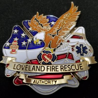 Loveland Colorado Fire Department Station 2 Opening 2014 Custom Fire Department Challenge Coin by Phoenix Challenge Coins back