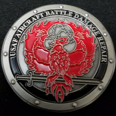 USAF Aircraft Battle Damage Repair Deployment Challenge Coin by Phoenix Challenge Coins back