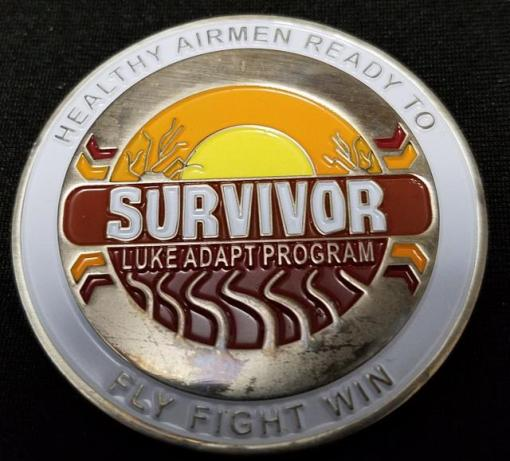 Luke AFB Substance Abuse Recovery Program Survivor Challenge Coin by Phoenix Challenge Coins back