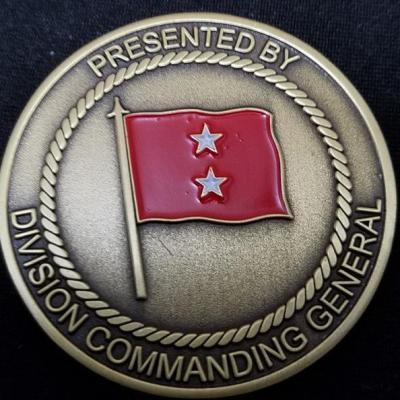 USMC 1st Marine Division Commanding General Challenge Coin By Phoenix Challenge Coins back