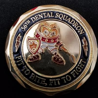 USAF 56th Dental Squadron Luke AFB Challenge Coin by Phoenix Challenge Coins back