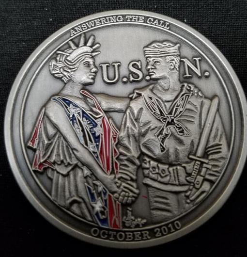 MCAGCC 29 Palms Joint Command USN Birthday Ball Challenge Coin by Phoenix Challenge Coins back