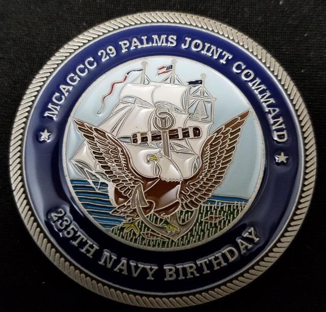 MCAGCC 29 Palms Joint Command USN Birthday Ball Challenge Coin