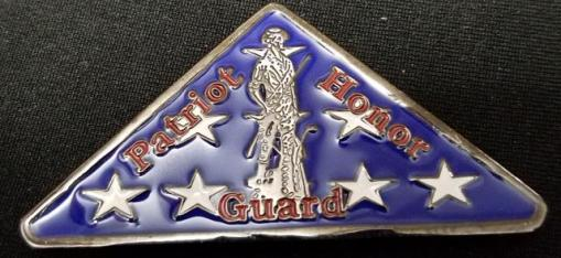 Patriot Honor Guard Folded US Flag Shaped Challenge Coin by Phoenix Challenge Coins