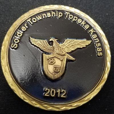 Soldier Township KS FD 2012 Fire coin By Phoenix Challenge Coins back