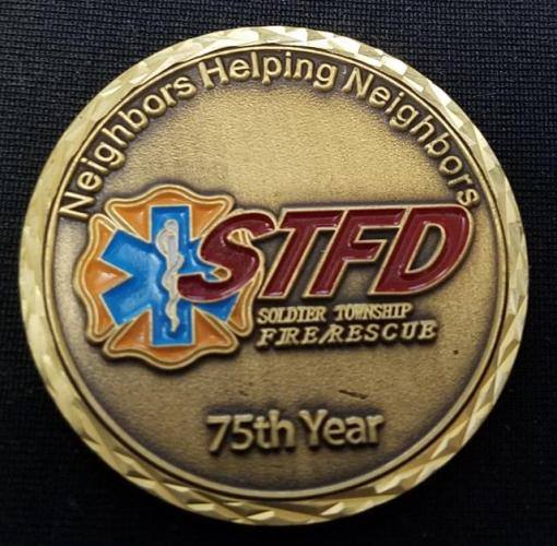Soldier Township KS FD 2012 Fire coin By Phoenix Challenge Coins