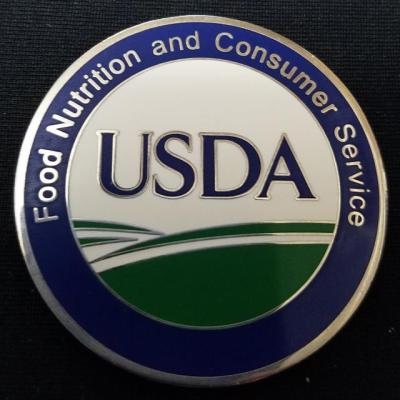 USDA OIT Food Nutrition and Consumer Service Challenge Coin by Phoenix Challenge Coins