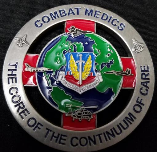 US Air Combat Command Surgeon Brigadier General Challenge Coin by Phoenix Challenge Coins back