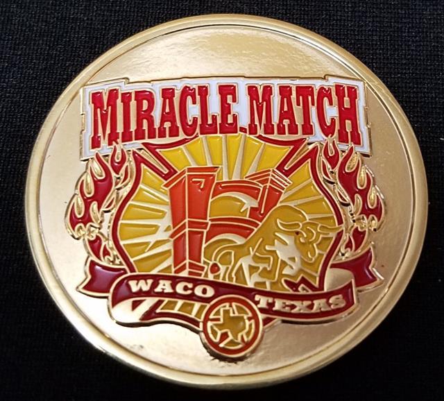 Miracle Match Marathon Waco Texas Cancer Charity Custom challenge coin -  Phoenix Challenge Coins