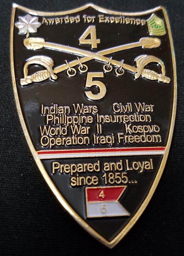 4th BN 5th Armored Cavalry Regiment 5th ACR Ft Riley KS Command Team Custom Challenge Coin by Phoenix Challenge Coins back