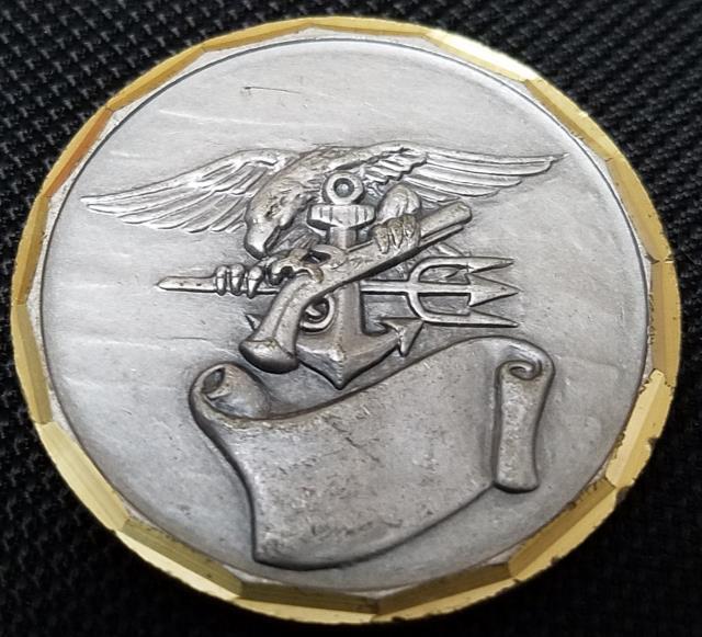 US Naval Special Warfare Unit 2 Boblingen Germany SEAL team SBU team SBS Challenge Coin V2 back