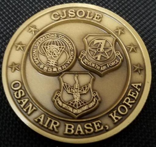 Combined Joint Special Operations Liaison Element SOCKOR Challenge Coin back