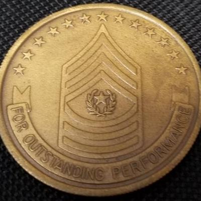 US Army 20th SFG (A) Special Forces Group (Airborne) CSM Challenge Coin