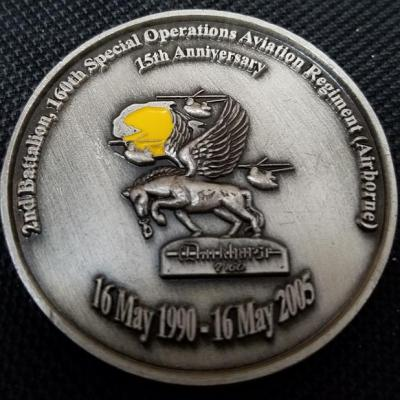 2/160th SOAR 2nd Battalion 160th Special Operations Aviation Regiment Night Stalkers Dark Horse 2005 challenge Coin