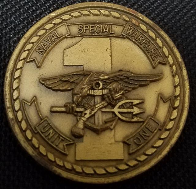 Rare US Naval Special Warfare Unit 1 SEAL Team SDVT Naval Special Warfare Task Unit Pacific Forward NSWTUPAC Challenge Coin