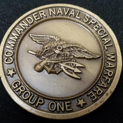US Naval Special Warfare Group 1 Combat Service Support Detachment 1 NSWG-1 CSSD-1 Commanders challenge coin