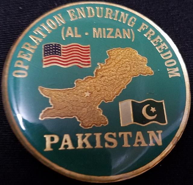 Special Operations Task Group Pakistan USAF 438th Air Expeditionary Wing PAF Jacobabad challenge coin back