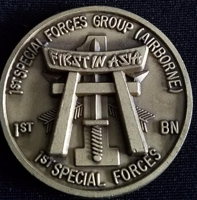 US Army 1st SFG (A) 1st Special Forces Group Airborne V3 challenge coin