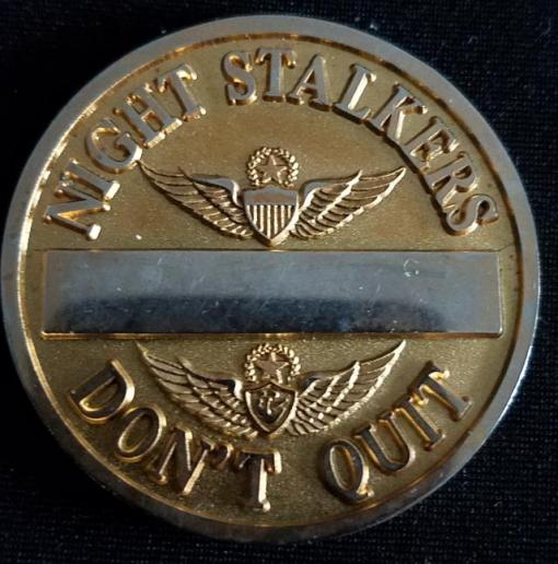 ARSOAC 160th Special Operations Aviation Regiment 160TH SOAR(A) Night stalkers v2 Challenge Coin back
