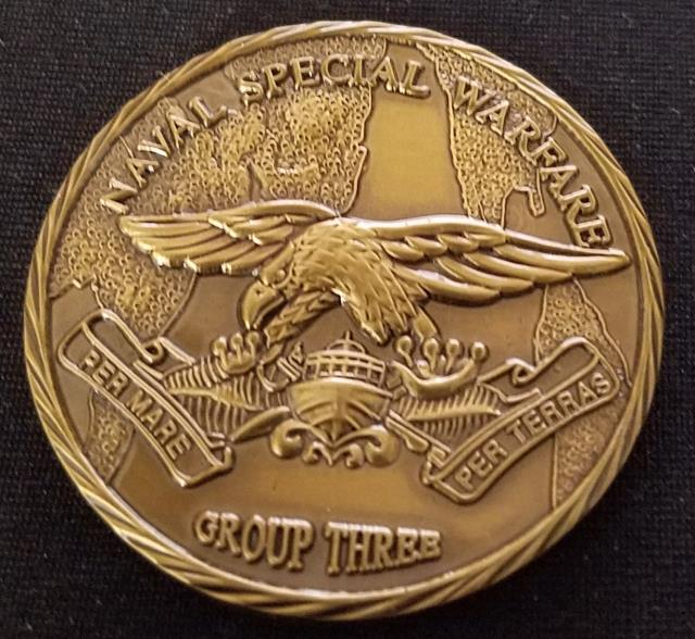 Naval Special Warfare Group 3 NSWG-3 Round Challenge Coin
