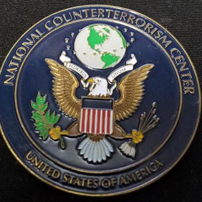 Rare US Intelligence Community National Counter Terrorism Center NCTC V3 challenge coin