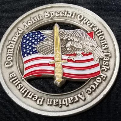 CJSOTF-AP Combined Joint Special Operations Task Force-Arabian Peninsula OIF Deployment V3 Challenge Coin