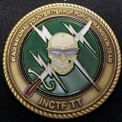 Iraqi National Counter Terror Force Transition Team Challenge Coin