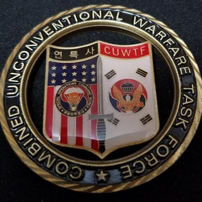 Combined Unconventional Warfare Task Force Korea Deputy Commanders Cut out challenge coin