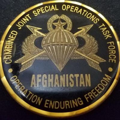 Combined Joint Special Operations Task Force-Afghanistan CJSOTF-A Round round V2 challenge coin