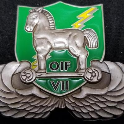 SOTF-C 2/10th SFG(A) Commanding OIF Special Operations Task Force-Central 2nd Battalion 10th Special Forces Group (Airborne) Shaped Deployment Challenge Coin by Phoenix Challenge Coins