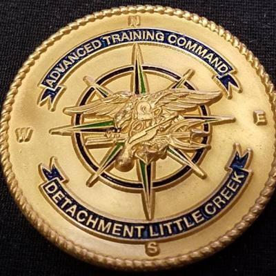 US Naval Special Warfare Command Navy Seal Advanced Training Command Detachment Little Creek Challenge Coin