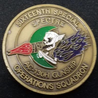 "Rare Early USAF AFSOC 16th SOS AC-130H Gunship 16th Special Operations Squadron Named Call Sign ""Rocker"" Challenge Coin"