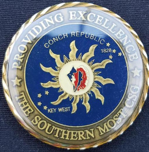 Rare NSA Cryptologic Services Group Key West Challenge Coin back
