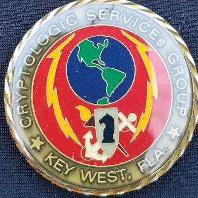 Rare NSA Cryptologic Services Group Key West Challenge Coin
