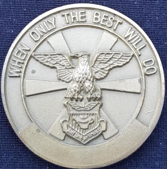 USAF AFSOC 20th SOS Green Hornets US Air Force Special Operations Command 20th Special Operations Squadron Challenge Coin back