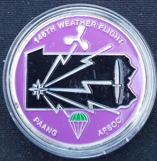 PAANG AFSOC 146th Weather Flight Challenge Coin