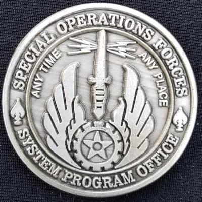 AFSOC Director SOF SPO US Air Force Special Operations Command Special Operations Forces Systems Program Office Challenge Coin