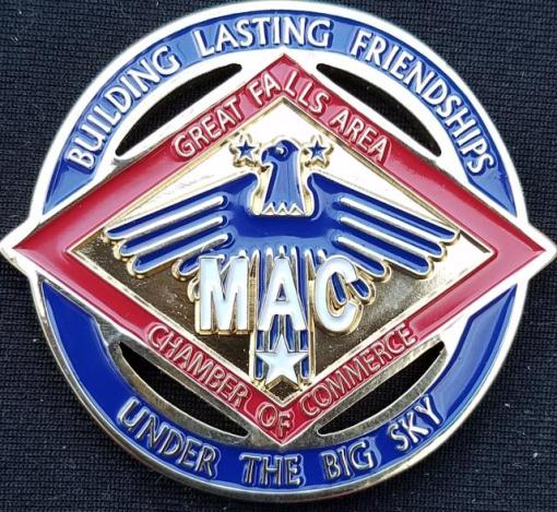 Great Falls Montana Military Affairs Committee Cut Out Challenge Coin