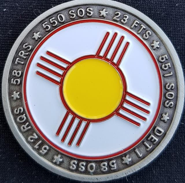 AFSOC 58th SOG US Air Force Special Operations Command 58th Special Operations Group Commanders Challenge Coin