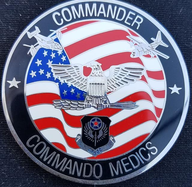 AFSOC 1st SOMG Air Force Special Operations Command 1st Special Operations Medical Group Commander Challenge Coin back