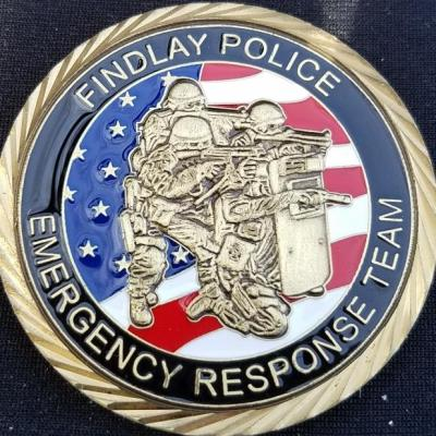 Findlay Ohio Police Department ERT SWAT Team Emergency Response Team Special Weapons and Tactics Challenge Coin by Phoenix Challenge Coins