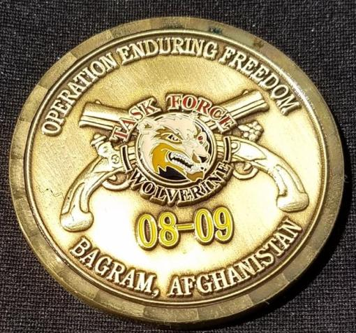 Task Force Wolverine BTIF Med OEF 08-09 Deployment Custom Coin by Phoenix Challenge Coins